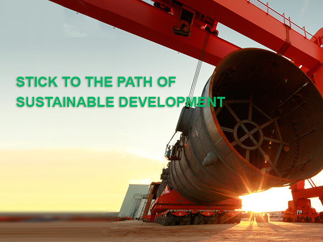 Stick to the path of sustainable development